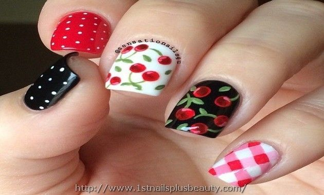 Cherry Nail Art Marvel Picture