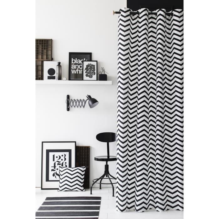 1000 id es propos de rideau noir et blanc sur pinterest rideaux blancs noirs rideaux noirs. Black Bedroom Furniture Sets. Home Design Ideas