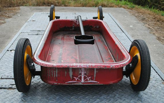 how to build a lowered radio flyer wagon