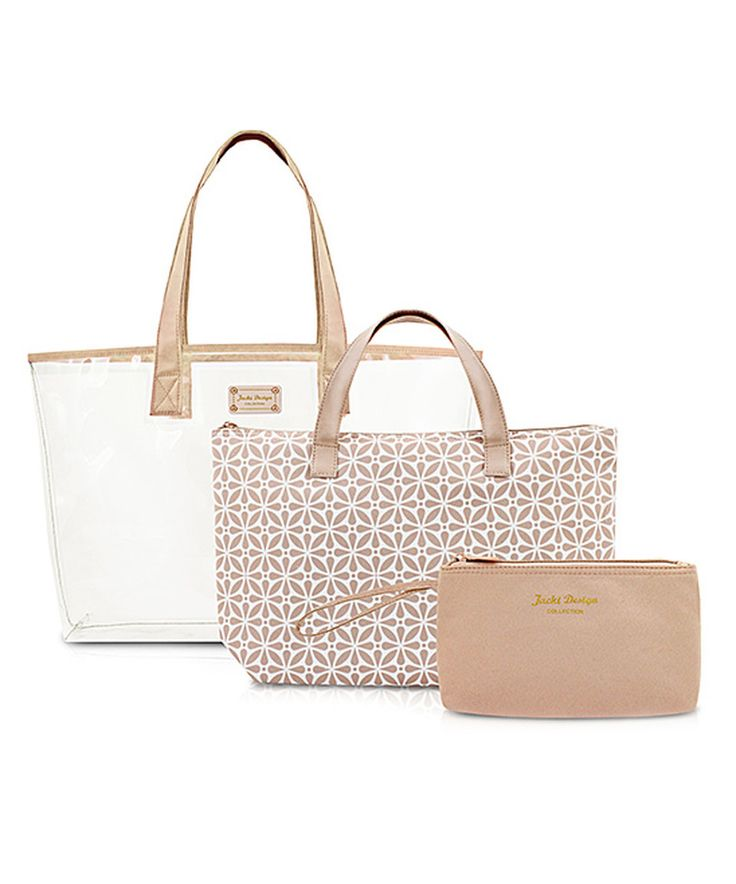 This Nude Tote Bag Set by Jacki Design is perfect! #zulilyfinds