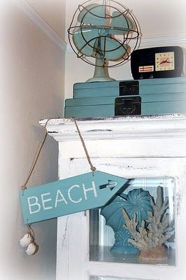 Vintage Beach Decorating Ideas 148 best home - bath redo - beach decor images on pinterest