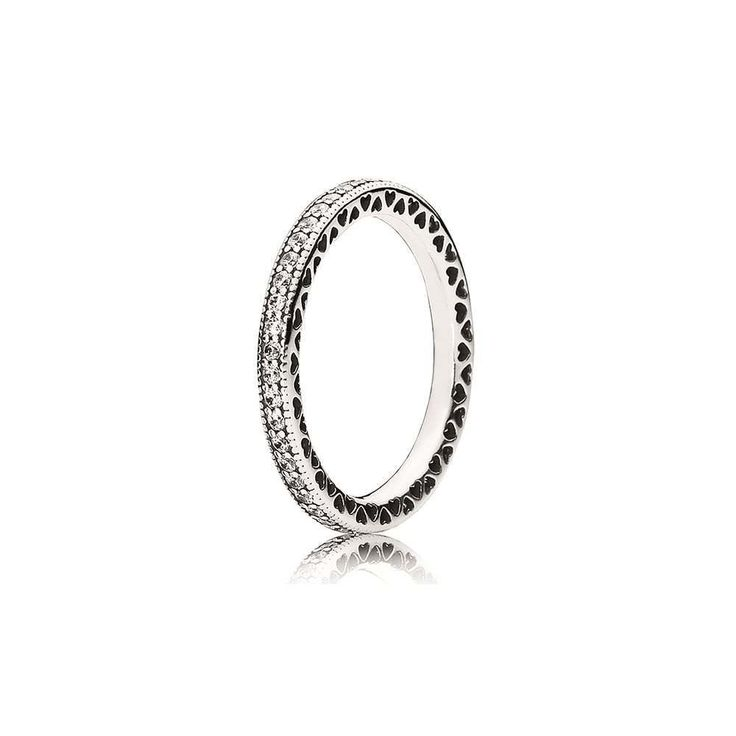 e734aeac6 ... Authentic Sterling Silver 925 Hearts of Pandora Ring 190963CZ Size 7 54  ...