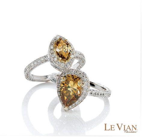 Chocolate diamond rings.