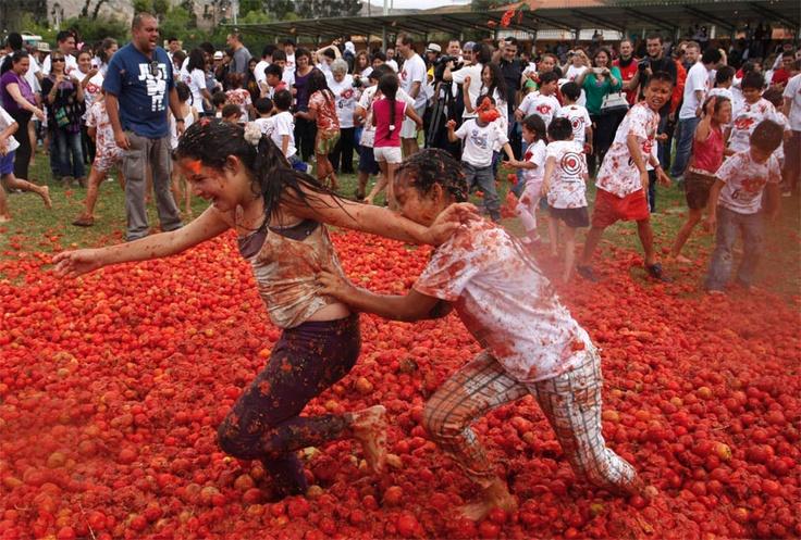 Sutamarchan's tomatina - Boyaca