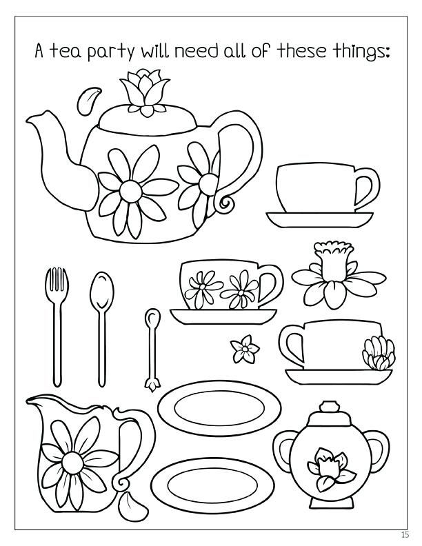 Coloring Books Enchanted Tea Party Coloring Book Enchanted