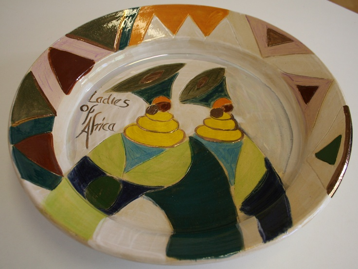Ladies of Africa Bowl by Dana    hand thrown and painted www.dmgdesigns.co.za