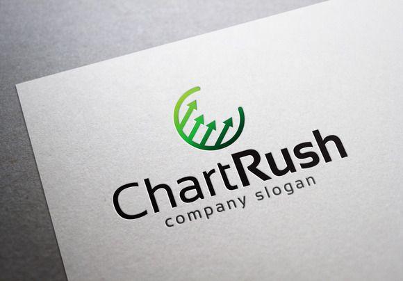 Chart Rush Logo by EmilGuseinov on Creative Market
