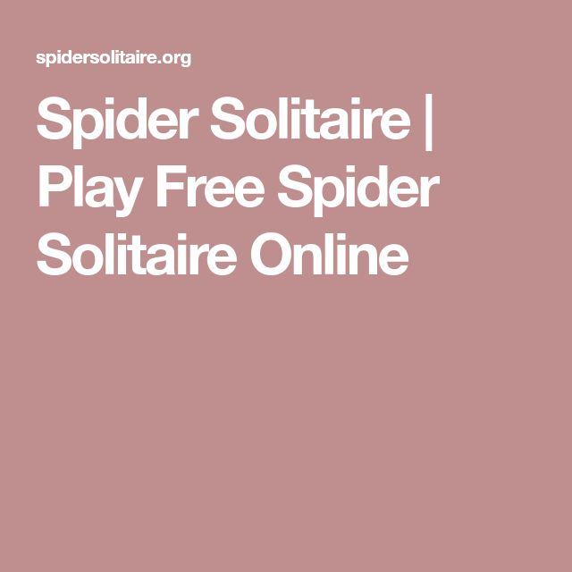 Spider Solitaire | Play Free Spider Solitaire Online