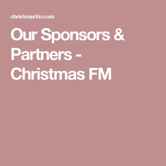 Our Sponsors & Partners - Christmas FM