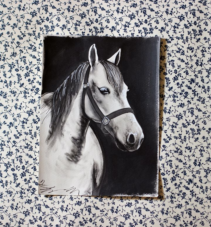 White Pony by Steph Tesoriero. Avail. for purchase.