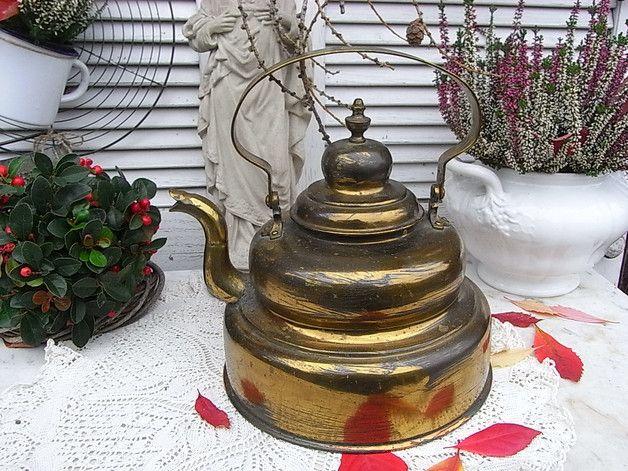 Vintage Töpfe - antiker Wasserkessel Teekessel zum Stangenherd - ein Designerstück von artdecoundso bei DaWanda
