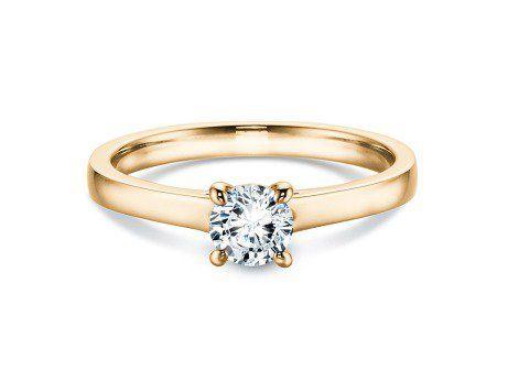 Verlobungsring Romance in 14K Gelbgold mit Diamant 0,50ct  Verlobungsring Romance mit echtem Diamant und vierer Krappenfassung. Das romantische Highlight des Solitärring Romance ist das in die Fassung eingearbeitete Herz.  beautiful gold engagement ring with diamond