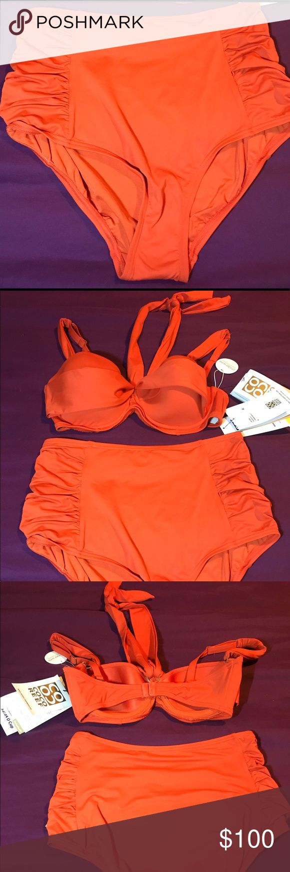 Coco reef perfectionFit bathing suit Brand new Coco Reef bra sized swimwear, underwire 2 piece bathing suit.. Top could be used in 4 different ways. Rich Orange. 32/34 D cup Coco Reef Swim Bikinis