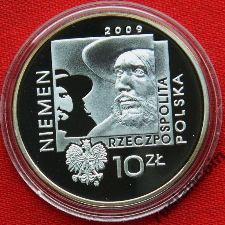 10 злотых 2009 музыкант Неман СЕРЕБРО 925 С Рубля