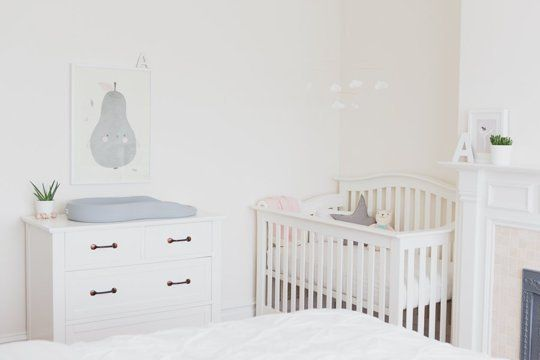 Name: Alessia (3 months) Location: San Francisco, California When our youngest daughter was born, we didn't have an extra bedroom to dedicate to a nursery. We knew that she would eventually move in with her big sister, but decided to keep her in our room for the first year, and turn a corner of our master bedroom into a little nursery nook.