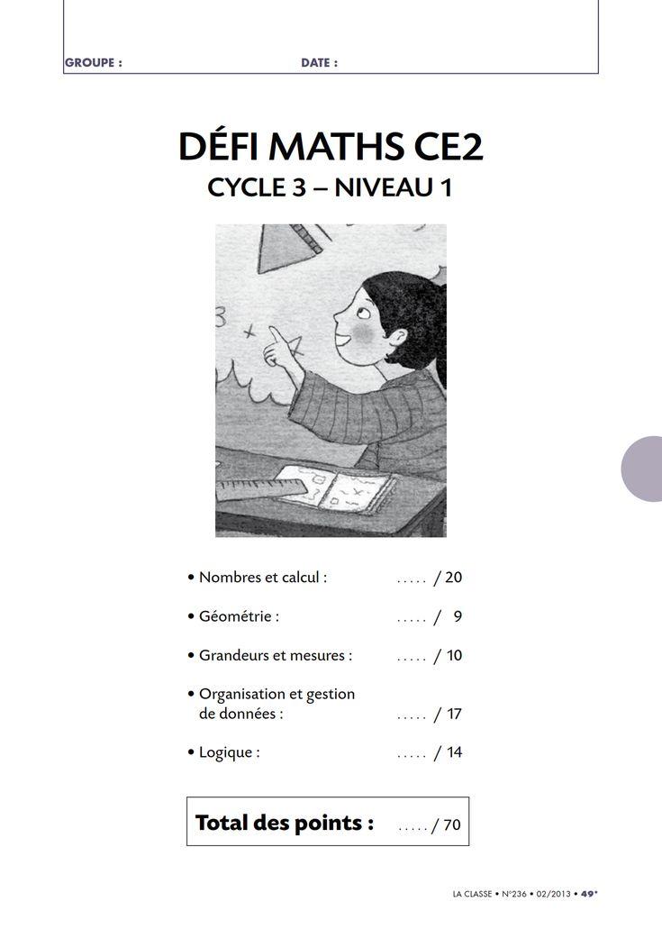 Un défi mathématiques amusant pour tester les connaissances de vos élèves de CE2 en numération, géométrie, logique, gestion de données ou en mesure.