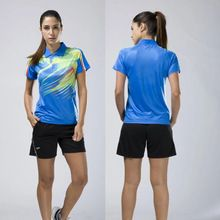 Quick dry table tennis clothing women badminton shirt and shorts breathable table tennis clothes print table tennis uniforms DIY(China)