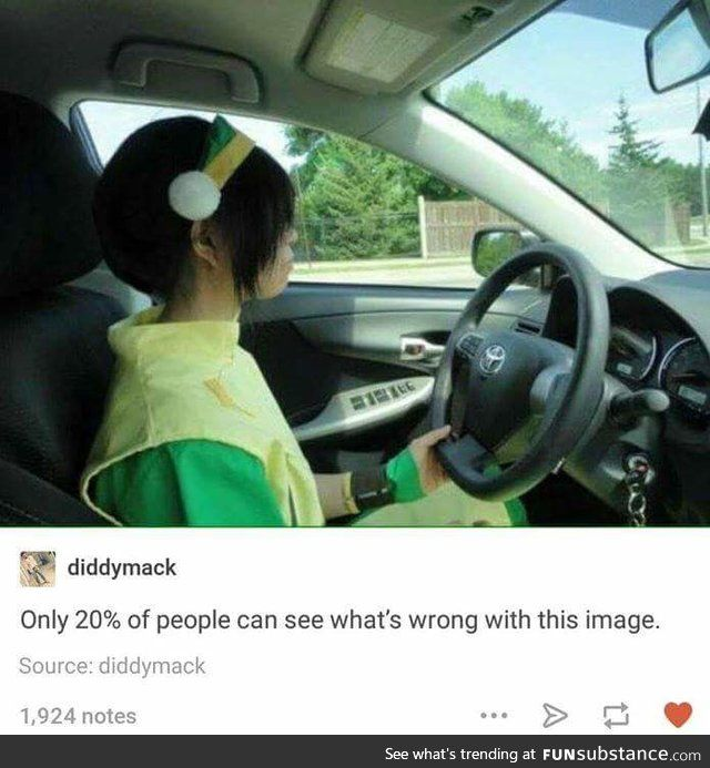 Aang and Sokka: *sitting in the back, chatting* Sokka: Wait if I'm Sokka... Sokka: And you're Aang... Sokka: ...then who's driving? Both: *look to the front* *scream*