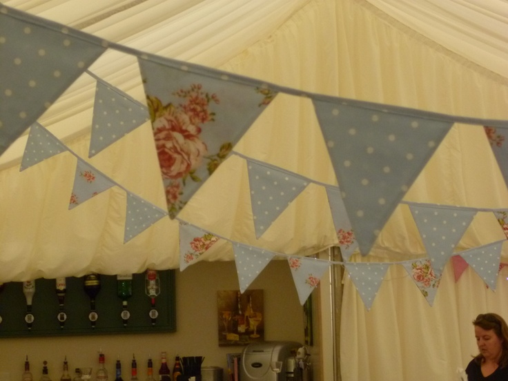 Vintage Hire Bunting at Glemham Hall, Suffolk