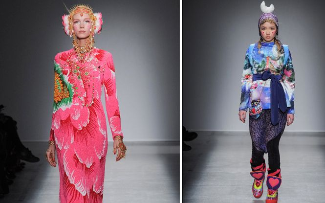 manish-arora-paris-fashion-week-2014 | Asiana.tv Adore the outfit on the left. Gorgeous design!