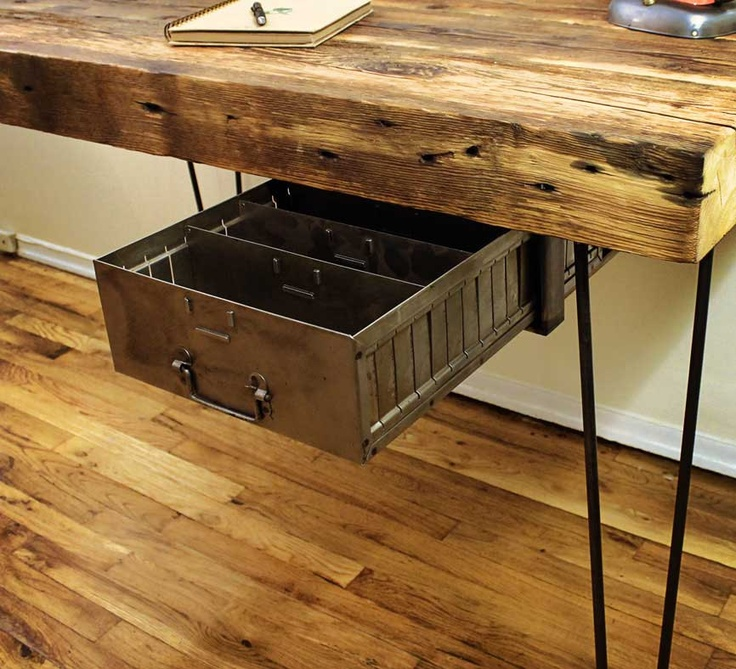 Reclaimed Wood Desk - Made to Order | Reclaimed Wood Desk, Wood Desk ...