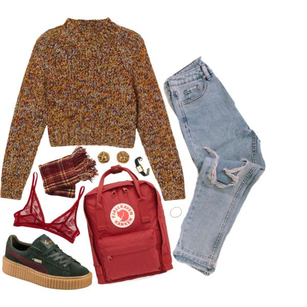 Untitled #274 by kaylastar221 on Polyvore featuring Monki, Calvin Klein Underwear, Puma, Fjällräven, Chanel, Bling Jewelry, Cartier and Pier 1 Imports