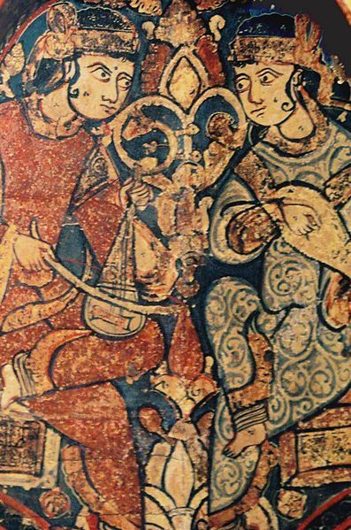 Muslim musicians at the court of the Norman King Roger II of Sicily, 12th century