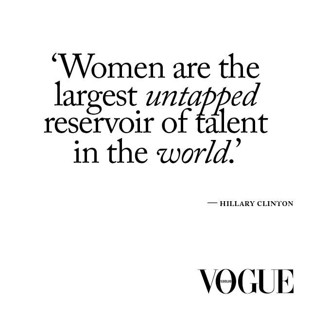 A profile on Hillary Clinton in the july/august issue of Vogue Netherlands