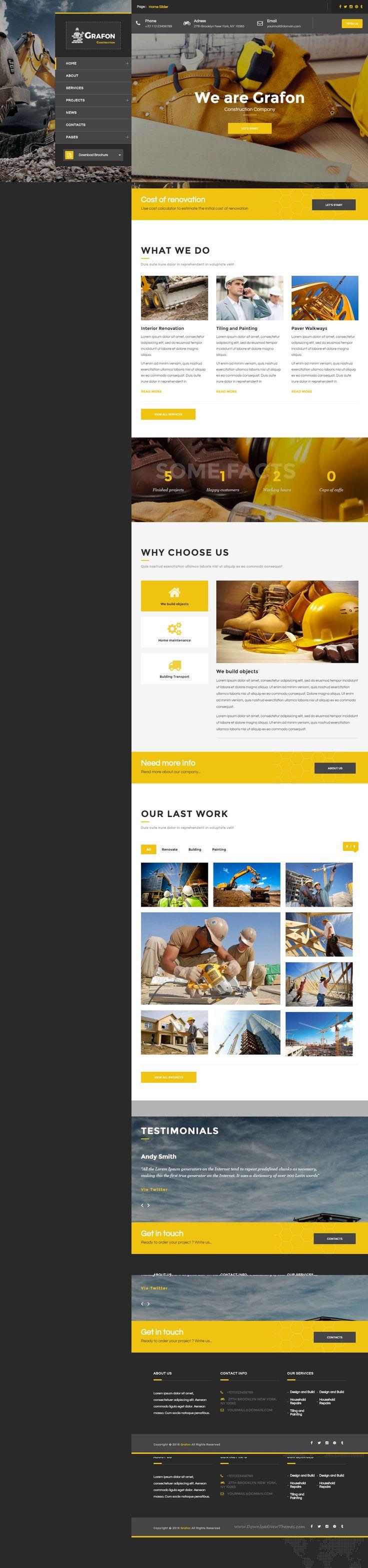 Grafon - Construction Building Renovate Architecture Bootstrap Template