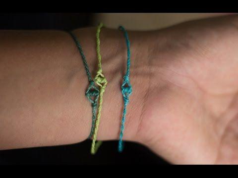 ▶ pulsera de los deseos pulseras de hilo fáciles de hacer - YouTube