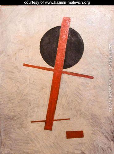 Black circle, red cross - Kazimir Severinovich Malevich - www.kazimir-malevich.org