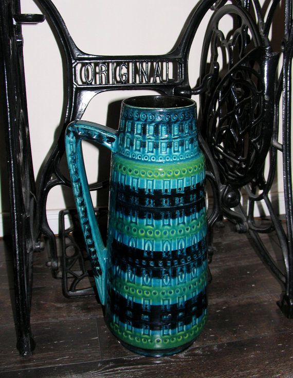 Funky Retro Vase Lava 416-45 West Germany GRATIS VERSAND !!!