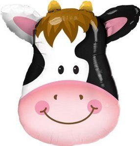Cow Balloon Party Supplies 32 Inch Mylar by anagram. Save 44 Off!. $3.92. can be filled with helium. 32 inch double sided mylar balloon. balloon is sold uninflated. 32 inch Cow supershape balloon. Sold uninflated.