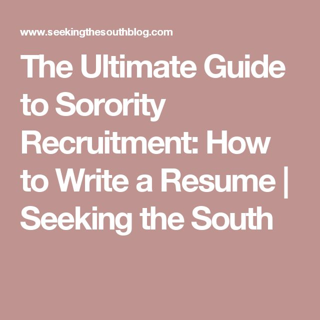 Best 25+ Sorority resume ideas on Pinterest Sorority girls - sorority recruitment resume