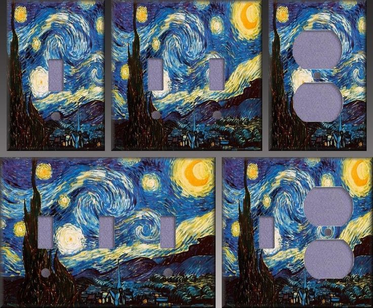 Van Gogh Starry Night Wall Decor Light Switch Plate Cover