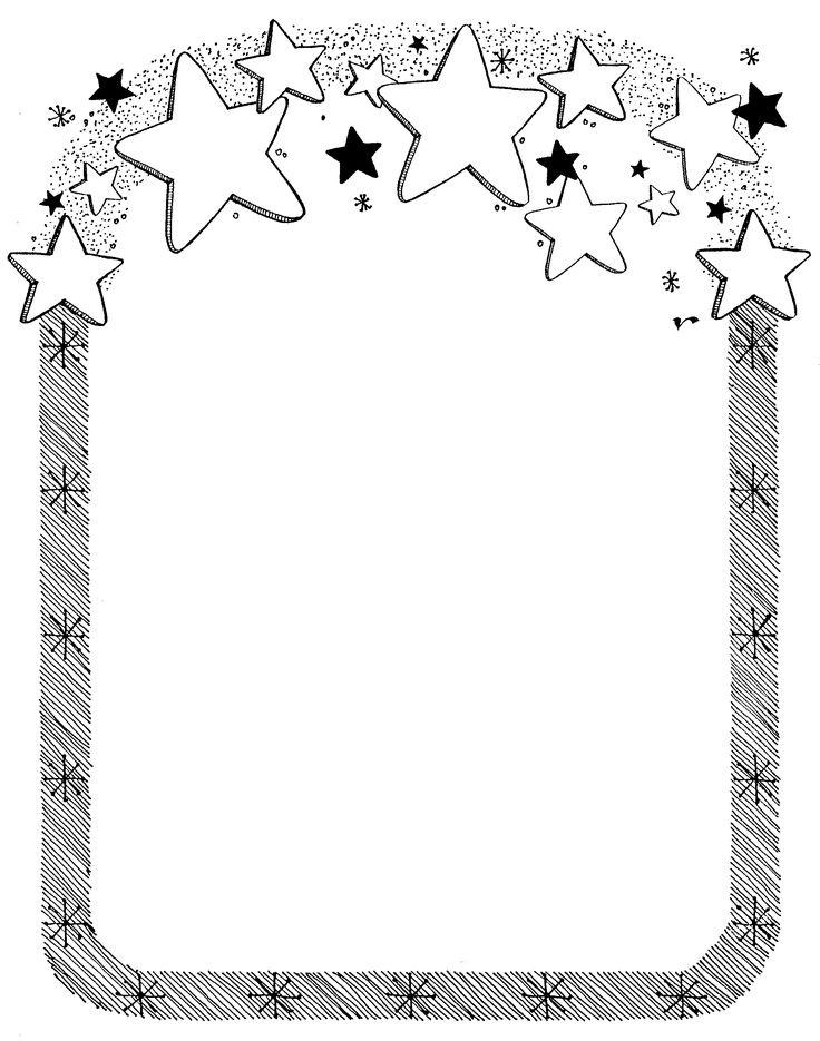 free to print star border clipart | Star Border | Mormon Share
