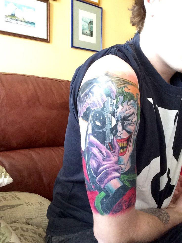 The Killing Joke Joker by Dani at Vallekas Tattoo Zone (Madrid)