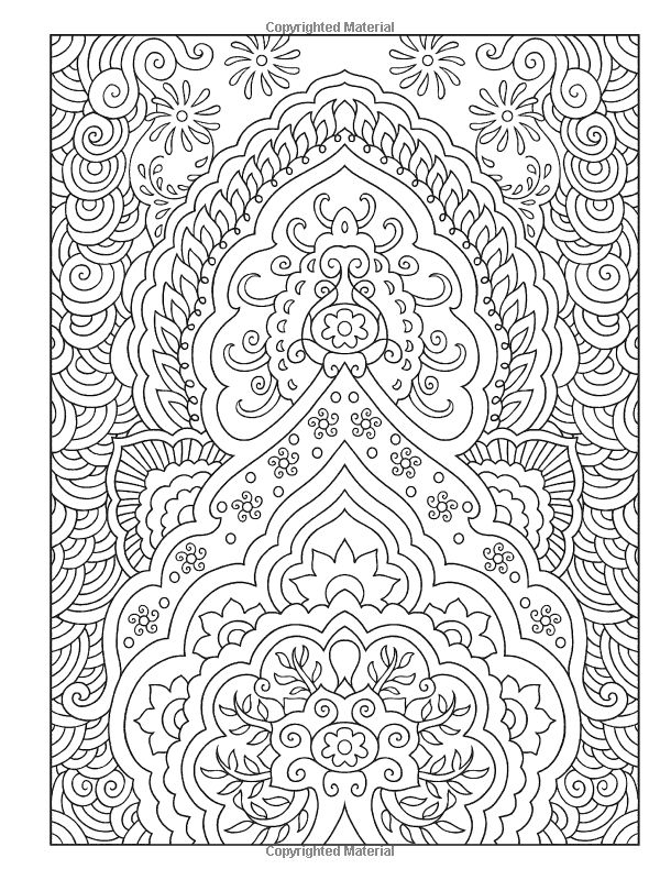 mehndi designs coloring book pages - photo#2