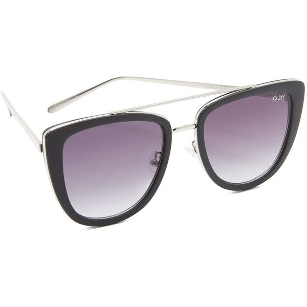 Quay French Kiss Sunglasses ($60) ❤ liked on Polyvore featuring accessories, eyewear, sunglasses, quay sunglasses and quay eyewear