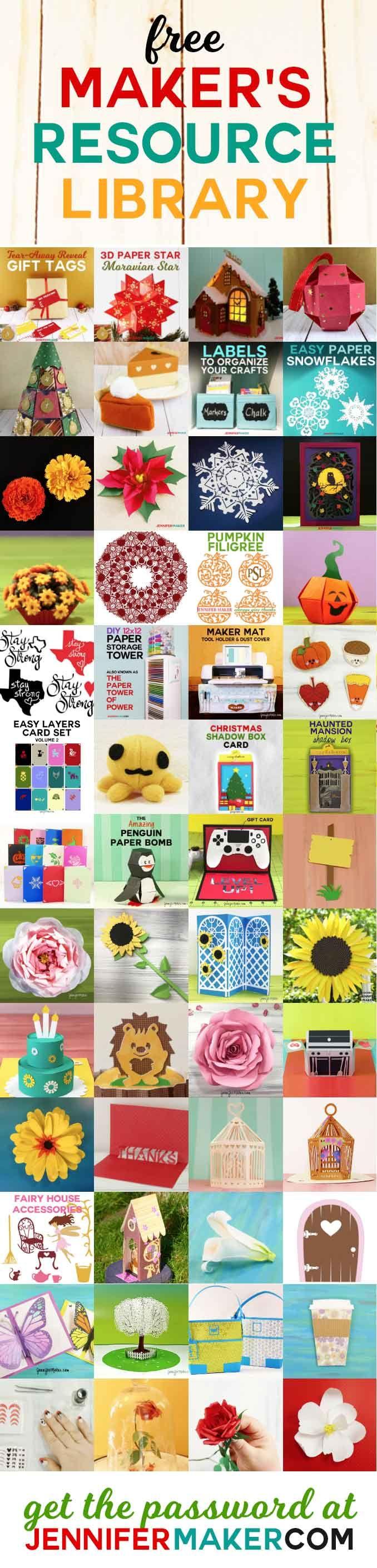 JenniferMaker DIY & Craft File Resource Library Cricut