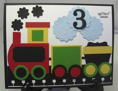 Punch Art Train using Stampin' Up! products.  Get details atPermalink…