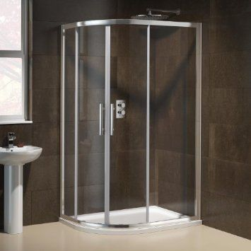 1000 x 800mm Designer Left Hand Offset Quadrant EasyClean Shower Enclosure and Tray Set: Amazon.co.uk: Kitchen & Home
