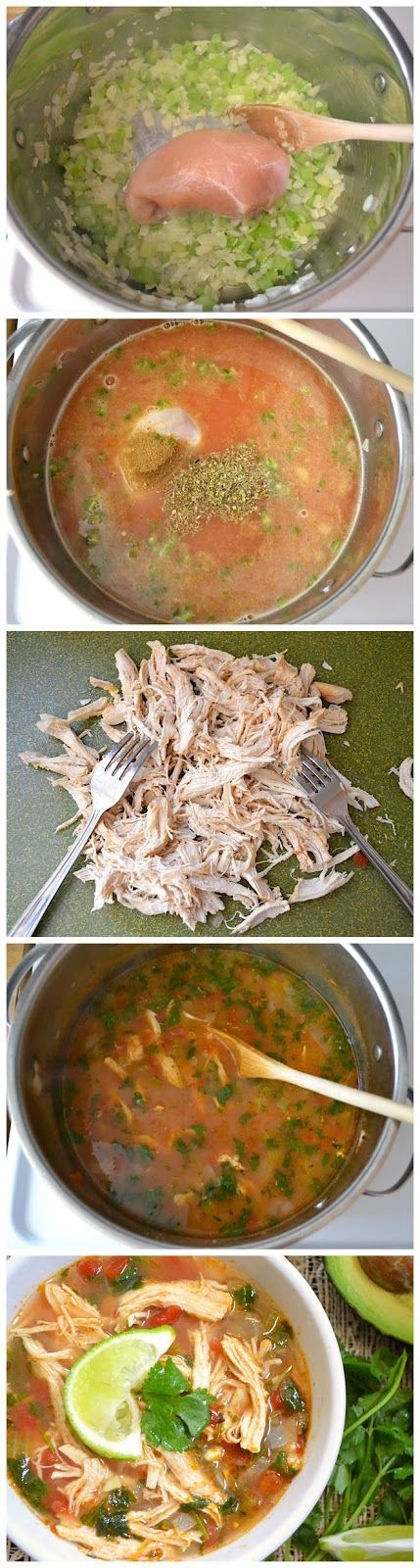 Chicken & Lime Soup by budgetbytes #Soup #Chicken #Lime #Healthy