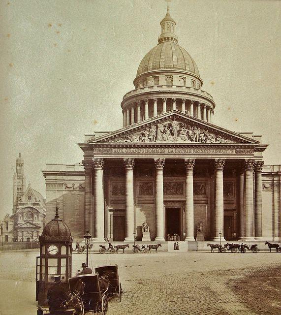 Le panthéon en 1870