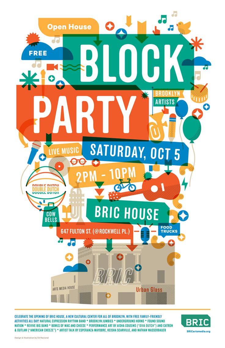 Bricarts Blockparty Poster by Ed Nacional www.ednacional.com