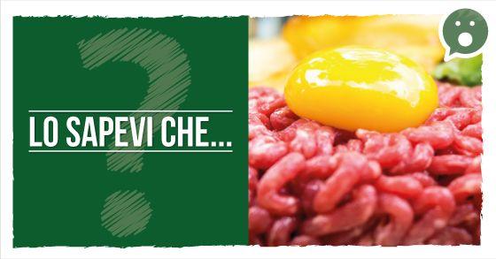Lo sapevi che la carne alla tartara è carne cruda, marinata nel succo di limone, o nel vino?