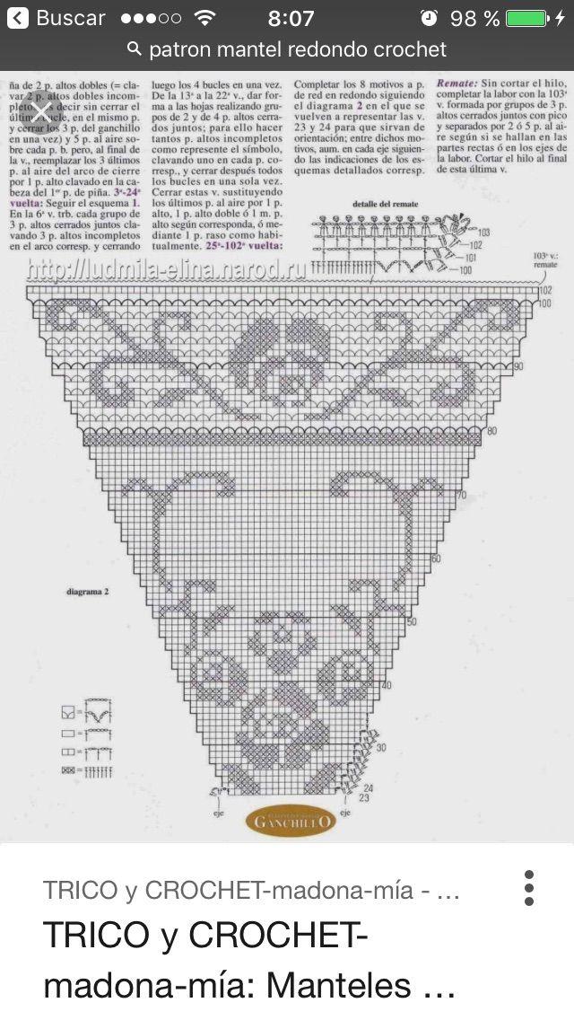 19 best Crochet table tops images on Pinterest | Patrones de ...