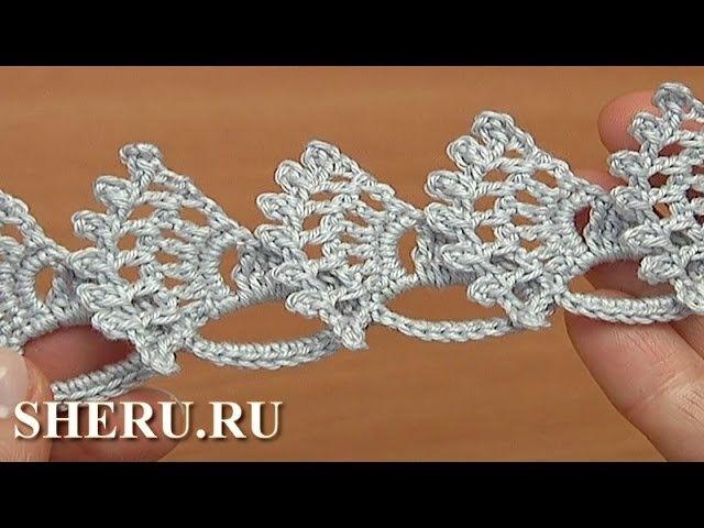 Crochet Element Lace Tape  Урок 29 Кружевная лента в технике ленточного кружева