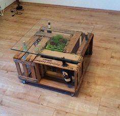 DIY Weinkisten-Tisch - wine crate table