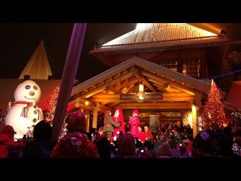 Christmas season opening in Santa Claus Village in Rovaniemi in Lapland